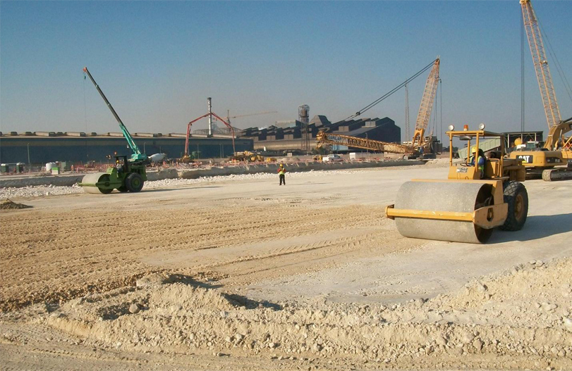 Infrastructural works for container terminal